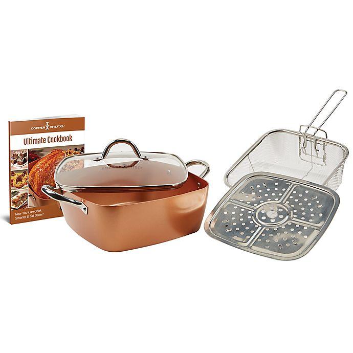 Copper Chef 5 Piece Xl 11 Inch Square Casserole Pan Set Bed Bath