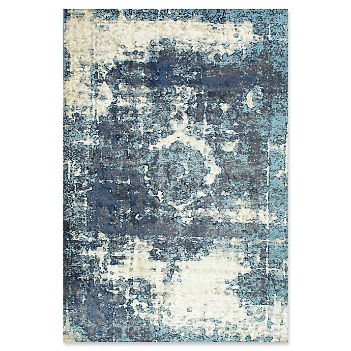 Alternate image 1 for nuLOOM Traces Vintage Lindsy 7-Foot 10-Inch x 11-Foot 2-Inch Area Rug in Blue