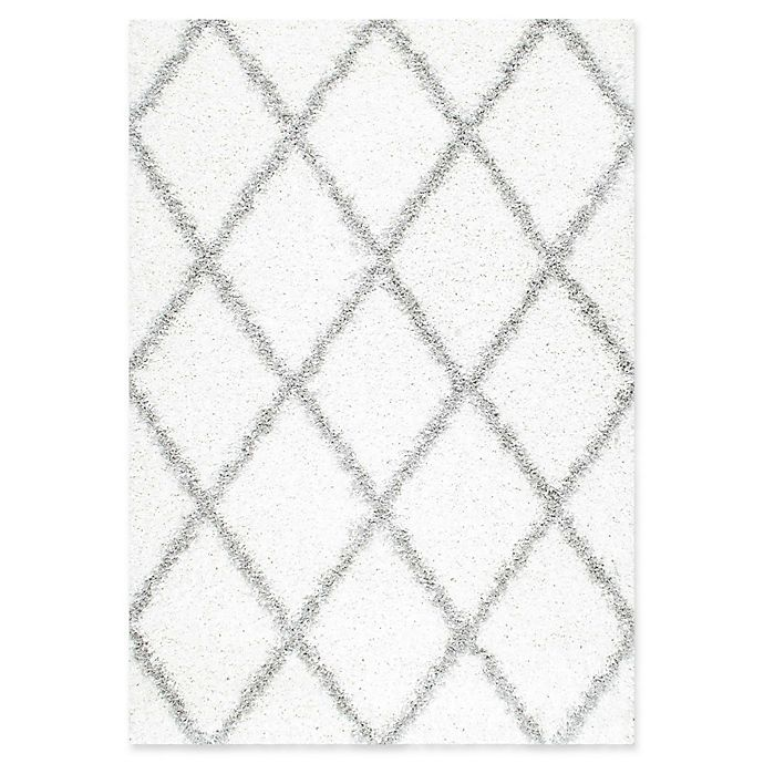 Alternate image 1 for nuLOOM Shanna Shaggy 7-Foot 10-Inch x 10-Foot Area Rug in White