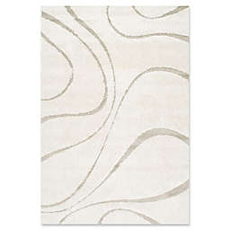 nuLOOM Carolyn Curves Shag 4-Foot x 6-Foot Area Rug in Cream