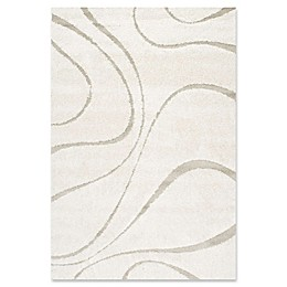 nuLOOM Carolyn Curves Shag Rug in Cream