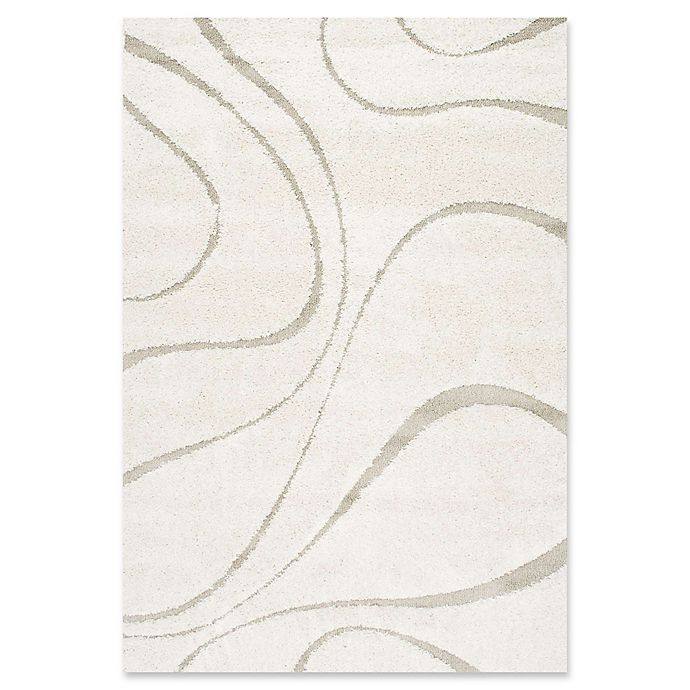 Alternate image 1 for nuLOOM Carolyn Curves Shag 6-Foot 7-Inch x 9-Foot Area Rug in Cream