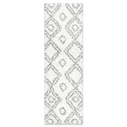 nuLOOM Iola Easy 2-Foot 8-Inch x 8-Foot Shag Runner in White