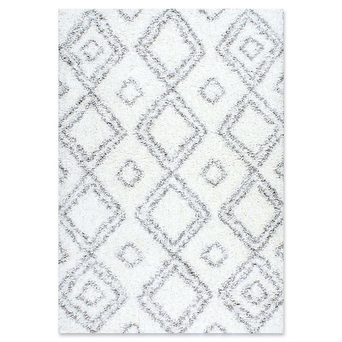Alternate image 1 for nuLOOM Iola Easy 6-Foot 7-Inch x 9-Foot Shag Area Rug in White