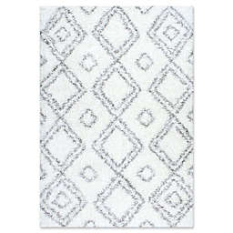 nuLOOM Iola Easy 6-Foot 7-Inch x 9-Foot Shag Area Rug in White