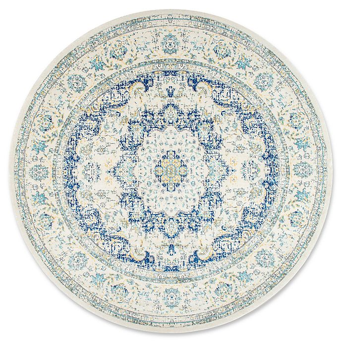 Alternate image 1 for nuLOOM Bodrum Verona 5-Foot Round Area Rug in Blue