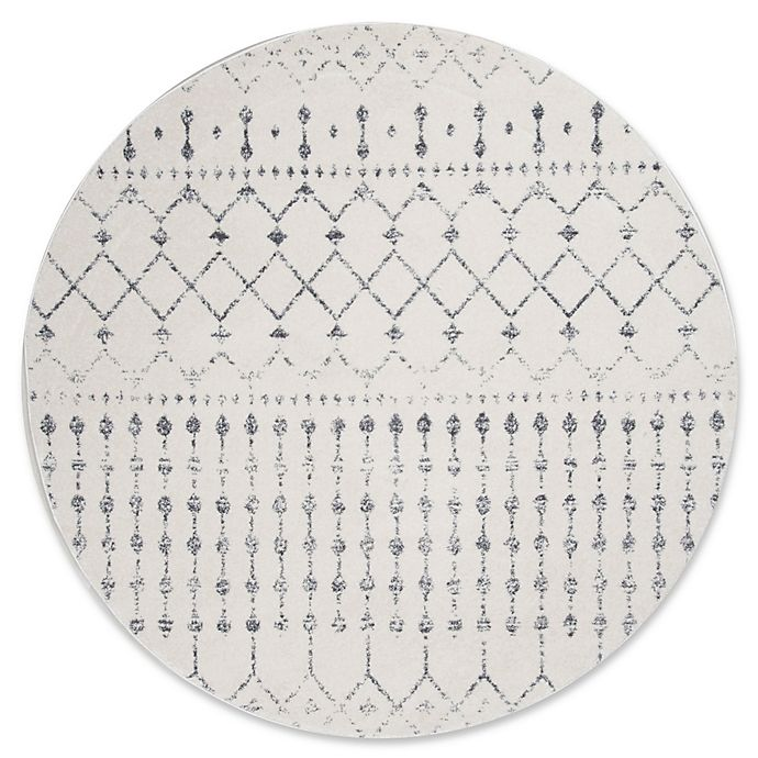 Alternate image 1 for nuLOOM 8-Foot Bodrum Round Area Rug in Grey