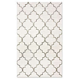 nuLOOM Caspian Park Avenue Trellis Rug in Nickel