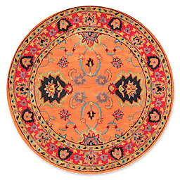 nuLOOM Remade Hand-Tufted Montesque Round Rug in Orange