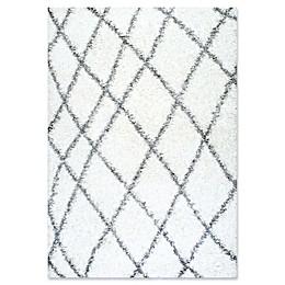 nuLoom Luna Easy Shag 10-Foot 6-Inch x 14-Foot Area Rug in White