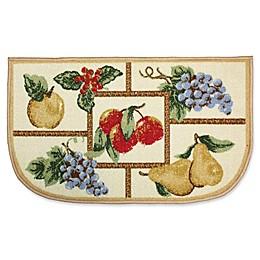 J&M Home Fashions 18-Inch x 30-Inch Fruit Kitchen Slice Rug