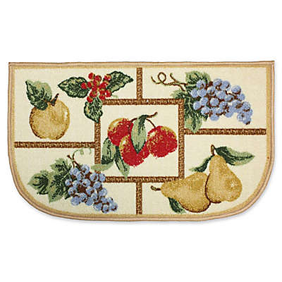 J&M Home Fashions 18-Inch x 30-Inch Fruit Kitchen Slice Rug