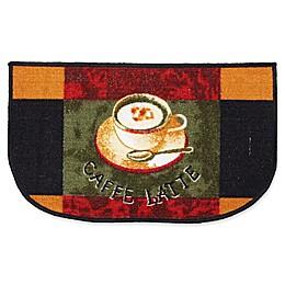 J&M Home Fashions 18-Inch x 30-Inch Latte Kitchen Slice Rug