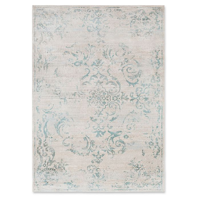 Alternate image 1 for Surya Allegro Damask 2-Foot 2-Inch x 3-Foot Accent Rug in Ivory