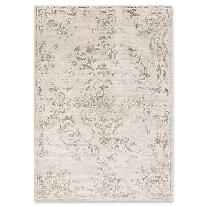 Alternate image 1 for Surya Allegro Damask 2-Foot 2-Inch x 3-Foot Accent Rug in Brown
