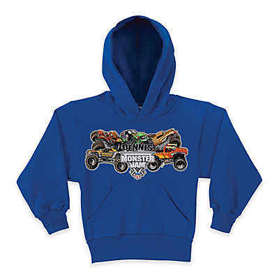 Monster Jam® Pile Up Pullover Hoodie in Blue