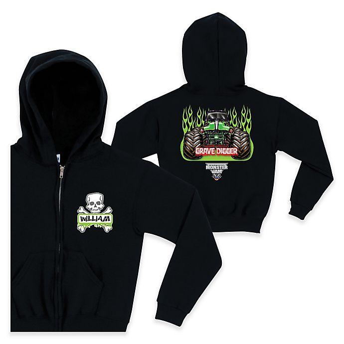 Alternate image 1 for Monster Jam® Crossbones Full-Zip Hoodie in Black