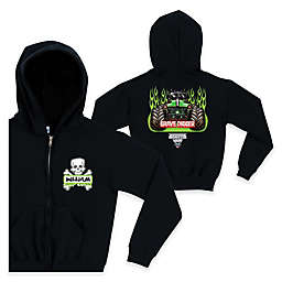 Monster Jam® Crossbones Full-Zip Hoodie in Black