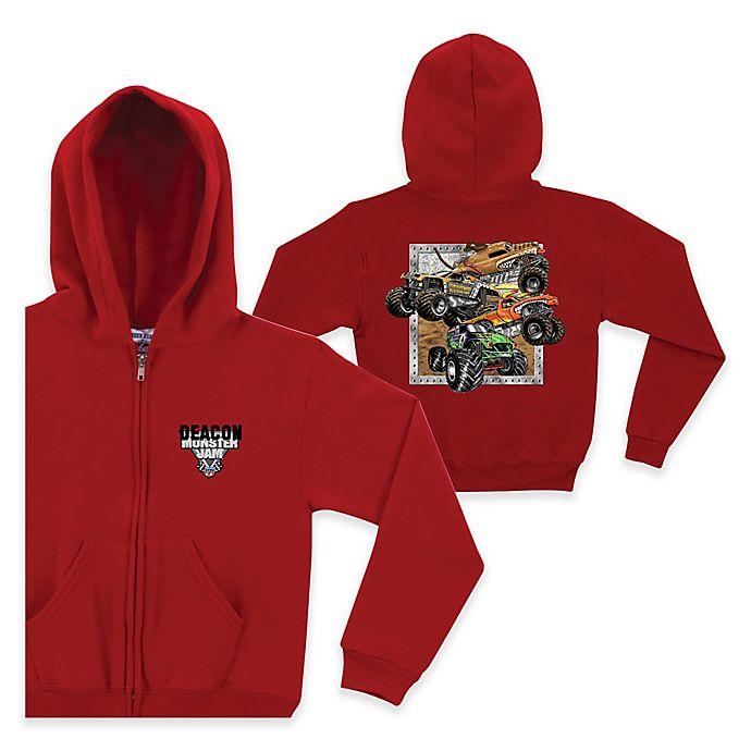 Alternate image 1 for Monster Jam® Crunch Full-Zip Hoodie in Red