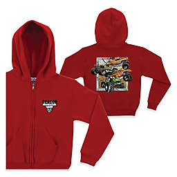 Monster Jam® Crunch Full-Zip Hoodie in Red