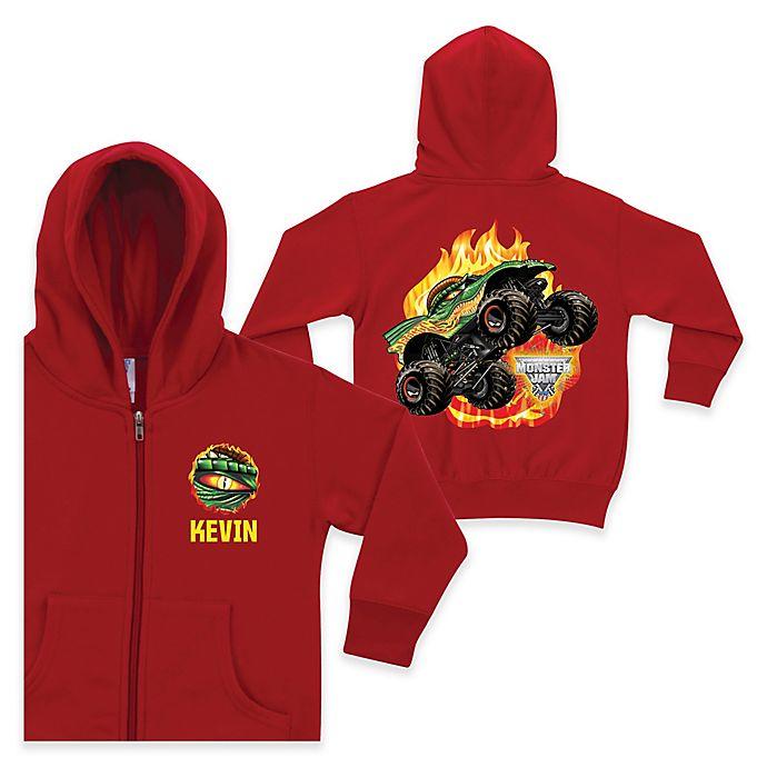 Alternate image 1 for Monster Jam® Dragon Full-Zip Hoodie in Red