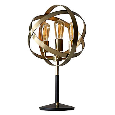 Adesso Donovan Table Lamp in Antique Brass