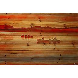 Parvez Taj Lake Lavielle 36-Inch x 24-Inch Pinewood Wall Art