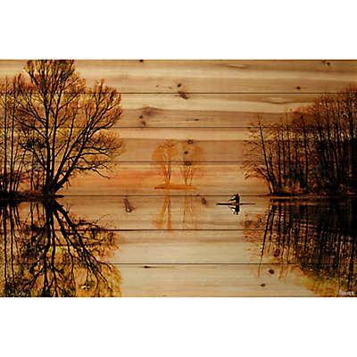 Parvez Taj Glass Lake 60-Inch x 40-Inch Pine Wood Wall Art