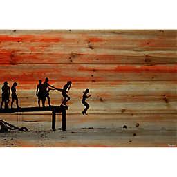 Parvez Taj Jumping Pine Wood Wall Art