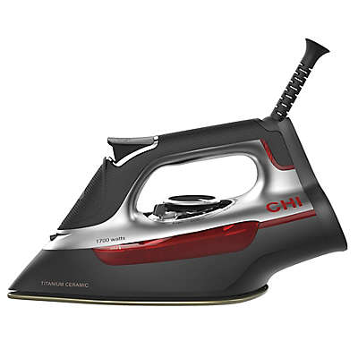 CHI® Manual Steam Iron in Black/Red