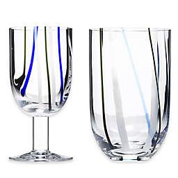 Kosta Boda Contrast Blue/Green Wine Glass Collection
