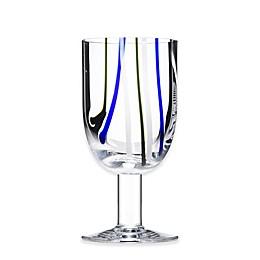 Kosta Boda Contrast Wine Glass in Blue/Green