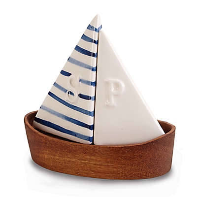 Mud Pie® 3-Piece Sailboat Salt and Pepper Set