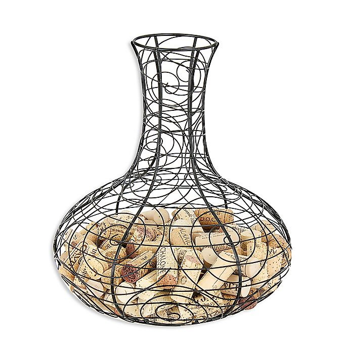 Alternate image 1 for Oenophilia Metal Decanter Cork Collector in Black