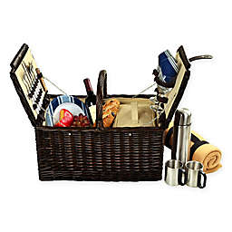 Picnic at Ascot Surrey 2-Person Picnic Basket with Blanket and Coffee Set