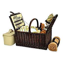 Picnic at Ascot Buckingham 4-Person Picnic Basket with Blanket