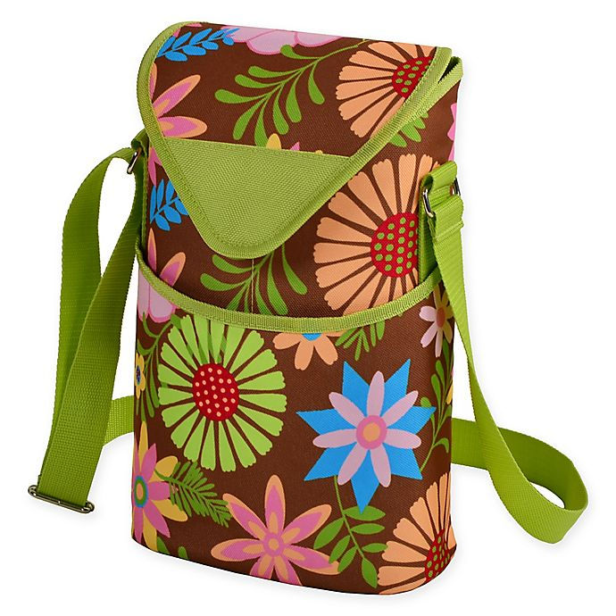 Alternate image 1 for Picnic at Ascot 2-Bottle Floral Print Wine/Water Bottle Tote in Floral