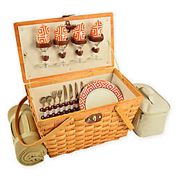 Picnic at Ascot Settler Picnic Basket for 4 with Blanket