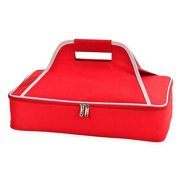 Alternate image 1 for Picnic at Ascot Insulated Casserole Carrier in Red