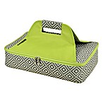 Picnic at Ascot Insulated Casserole Carrier in Grey/Green