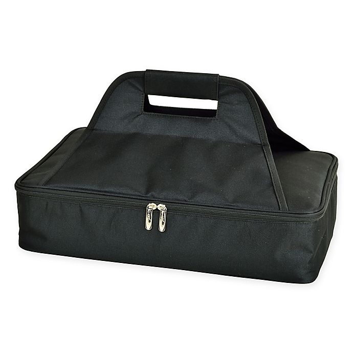 Alternate image 1 for Picnic at Ascot Insulated Casserole Carrier in Black