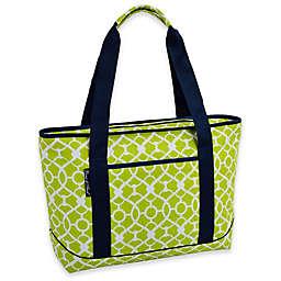 Picnic at Ascot Trellis Green Large Insulated Cooler Bag