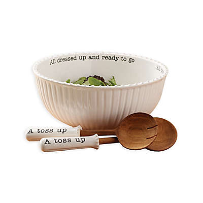 Mud Pie® 3-Piece All Dressed Up Salad Bowl and Server Set