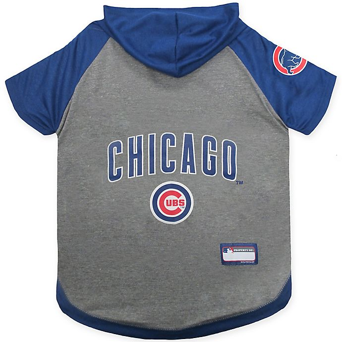 Alternate image 1 for MLB Chicago Cubs Extra Small Pet Hoodie T-Shirt