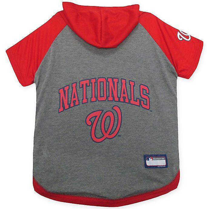 Alternate image 1 for MLB Washington Nationals Extra Small Pet Hoodie T-Shirt