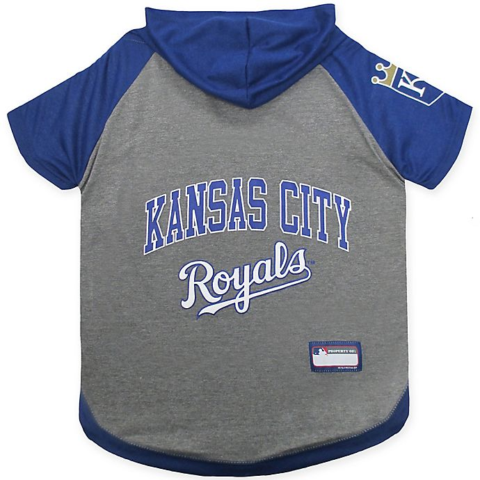 Alternate image 1 for MLB Kansas City Royals Medium Pet Hoodie T-Shirt