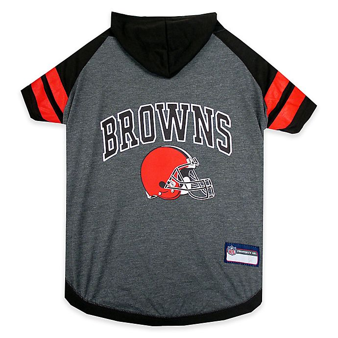 Alternate image 1 for NFL Cleveland Browns Medium Pet Hoodie T-Shirt