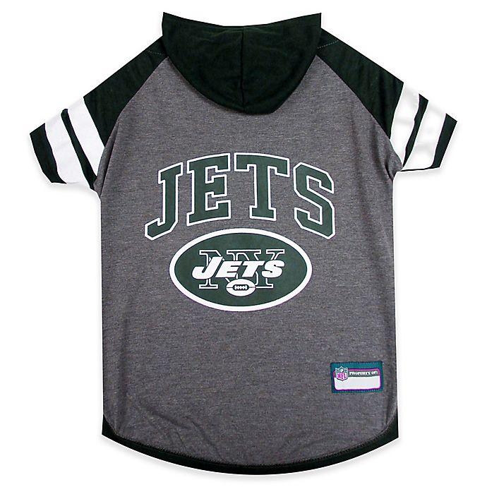 Alternate image 1 for NFL New York Jets Medium Pet Hoodie T-Shirt