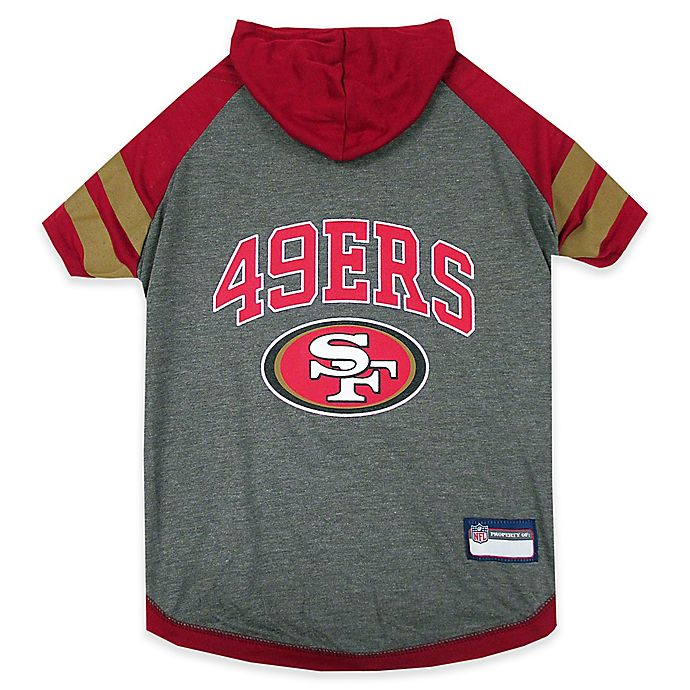 Alternate image 1 for NFL San Francisco 49ers Small Pet Hoodie T-Shirt