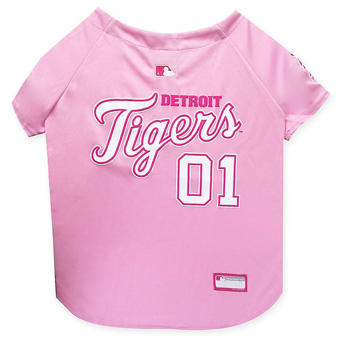 Alternate image 1 for MLB Detroit Tigers Large Dog Jersey in Pink